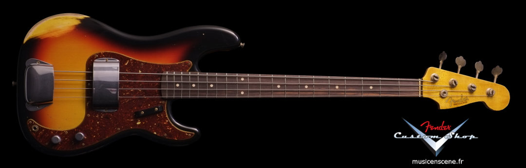 FENDER CS '64 Precision Bass Heavy Relic Sunburst (VENDUE)