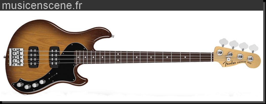 FENDER American Deluxe Dimension Bass HH IV Violin Burst