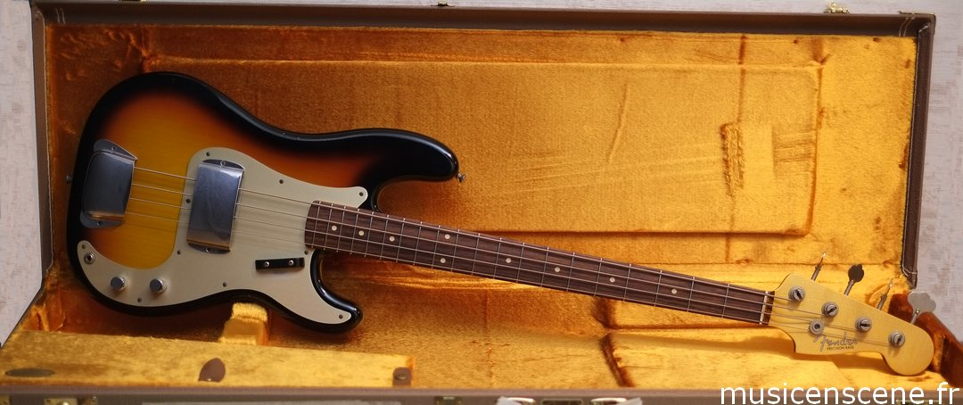 FENDER CS '59 Pbass Journeyman Relic Sb Vendue
