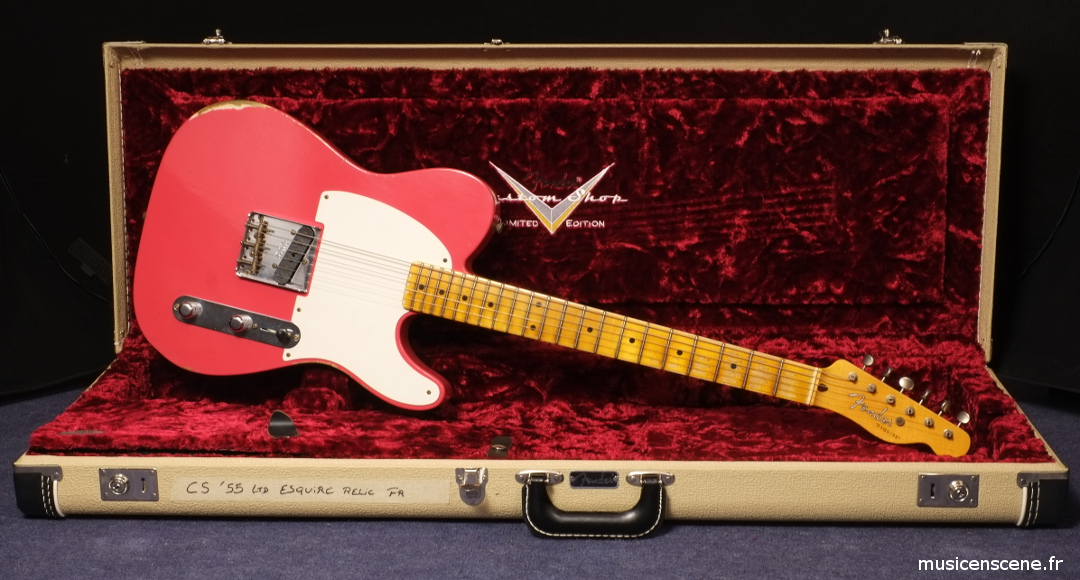 FENDER CS '55 Esquire Relic Fiesta Red Limited Edition
