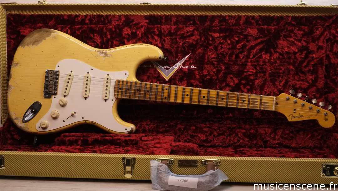FENDER CS '56 Strat Heavy Relic Nocaster Blonde