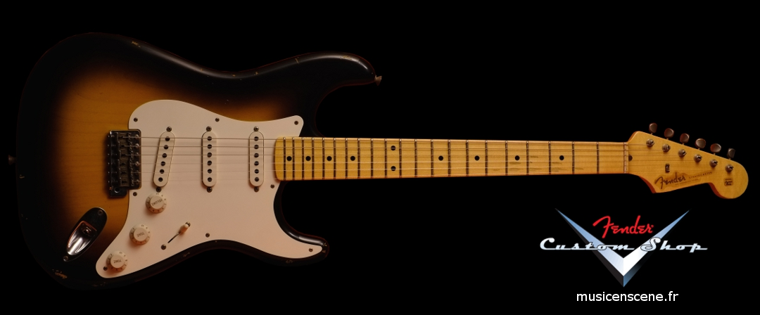 FENDER CS '57 Strat Relic Faded 2 TS Micros Abby (VENDUE)