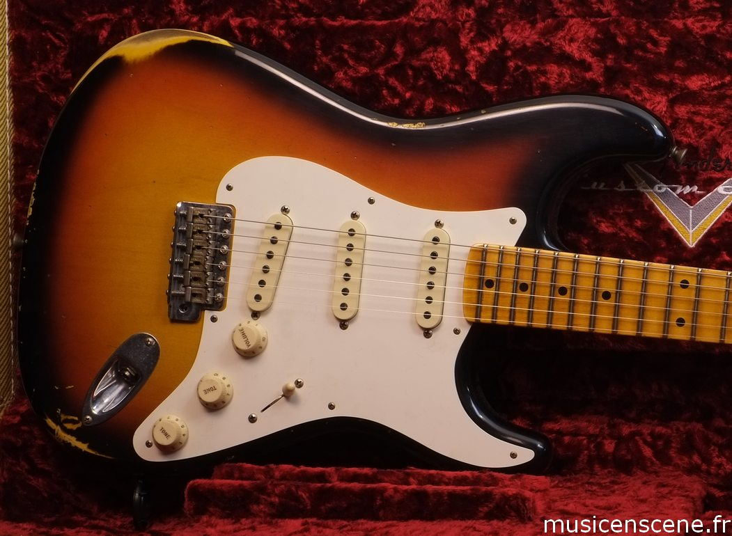 FENDER CS '59 Strat Earlier Faded 3 TS Relic Vendue