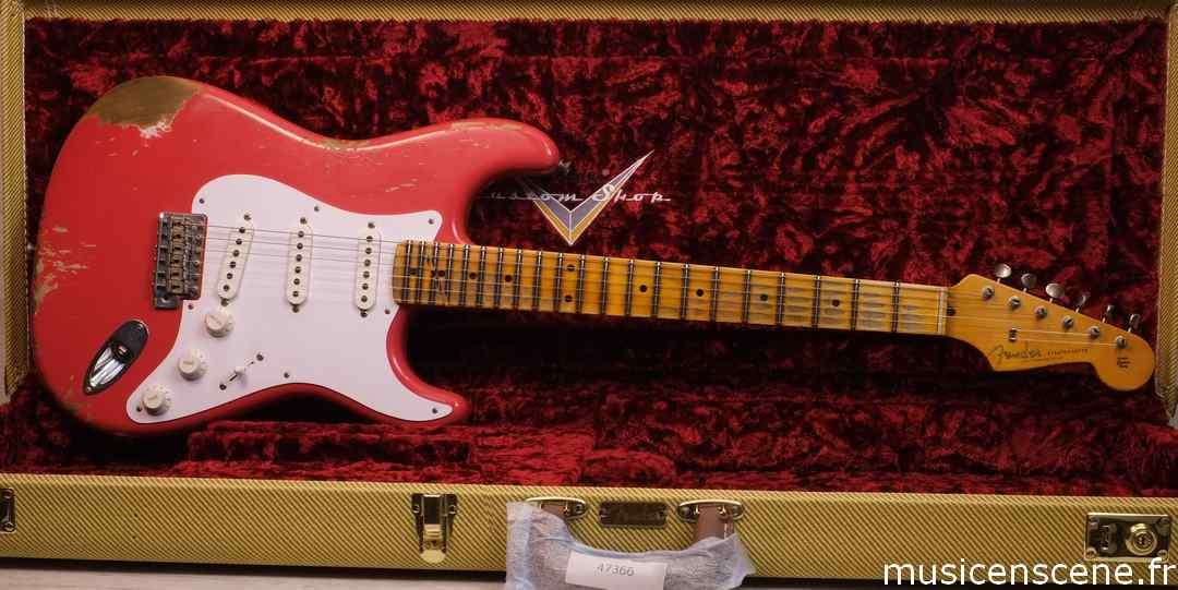 FENDER CS 57' Strat Heavy Relic Fiesta Red
