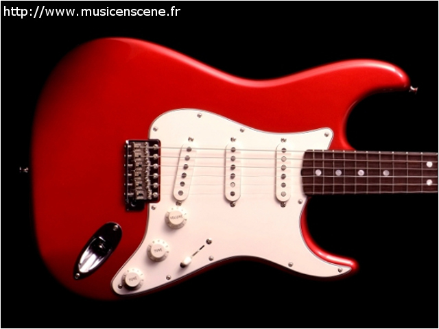 FENDER CS 65' Strat NOS Candy Apple Red Micros Abby (VENDUE)