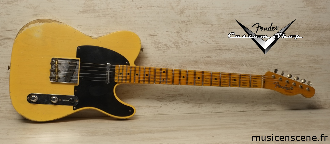 FENDER CS '52 Tele Heavy Relic Nocaster Blonde