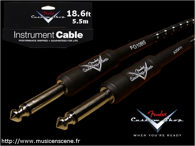 FENDER Custom Shop Câble Jack/Jack 5.5m Black Tweed