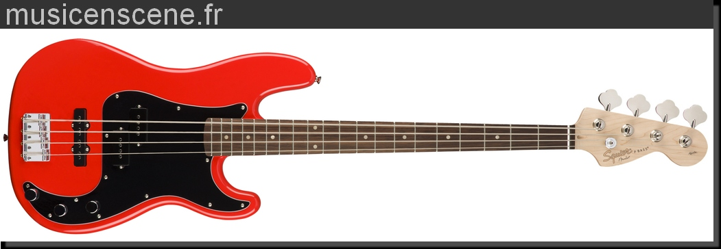 SQUIER PJ Bass Affinity Race Red